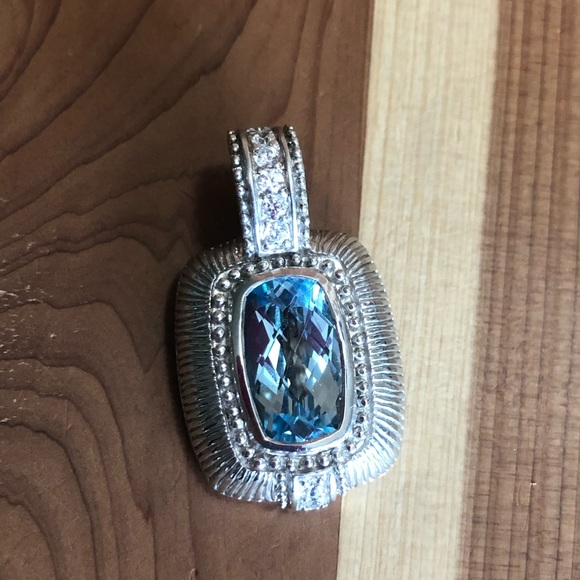 05d65d1a4 Judith Ripka Jewelry | Blue Topaz Pendant | Poshmark